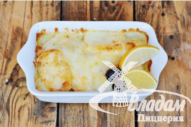 Семга с картофелем в сливочном соусе
