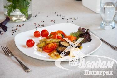 Соте из овощей с баклажанами