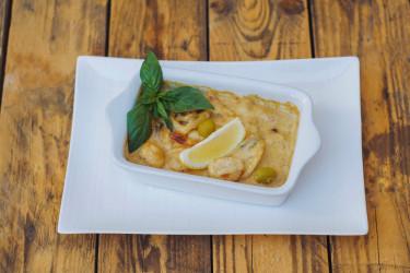 Сковорода из морепродуктов